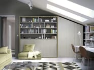 Storage wall with fold-away bed ON-OFF 215 - TUMIDEI
