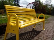 Contemporary style metal Bench with armrests with back ONDAVERDE 1650 CONFORT - SMEC