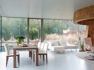 Extending rectangular solid wood dining table OPERA - Jori