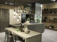 Cucina in alluminio con isola OPERA | Cucina con isola - Snaidero