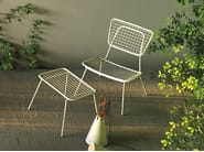 Stackable metal garden armchair with armrests OPLÀ L - Imperial Line