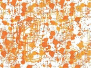 Motif nonwoven wallpaper ORANGE INK - MyCollection.it