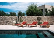 Recliner teak garden daybed with Casters ORSON | Garden daybed - RODA