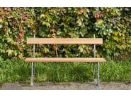 Wooden garden bench OTTAVIA - Tectona