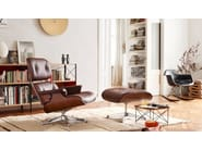 Leather footstool with 4-spoke base OTTOMAN - Vitra