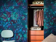 Wallpaper with floral pattern PAINTILLISE - Wall&decò