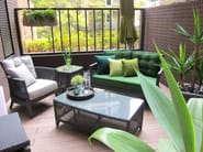 Garden armchair with armrests PALM SPRINGS | Easy chair with armrests - 7OCEANS DESIGNS