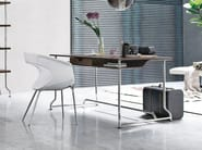 Steel and wood writing desk with drawers PAPIER - ALIVAR