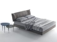 Fabric double bed with upholstered headboard PARENTESI - Caccaro