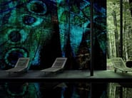 Washable vinyl wallpaper PARIS GREEN - GLAMORA