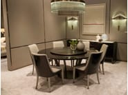 Lacquered round wooden table with Lazy Susan PARIS | Table with Lazy Susan - HUGUES CHEVALIER