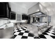Steel kitchen with island PARK AVENUE - Officine Gullo