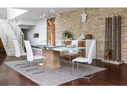 Extending wood and glass table PARK GLASS - Calligaris