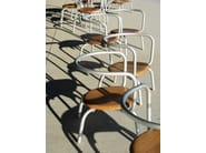 Stackable aluminium and wood chair PARRISH | Aluminium and wood chair - Emeco