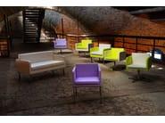 Contemporary style swivel fabric guest chair PASTEL SMALL | Swivel easy chair - Domingo Salotti