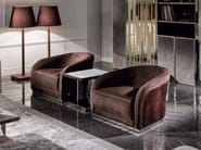 Fabric armchair with armrests PEARL | Fabric armchair - Fratelli Longhi