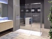 Tempered glass shower cabin with tray PENISOLA - Antonio Lupi Design®