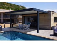 Freestanding motorized aluminium pergola with adjustable louvers PERGOLA BIOCLIMATICA | Freestanding pergola - INDÚSTRIAS DURMI