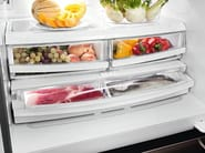 Frigorifero no frost in acciaio inox con congelatore classe A+ PFME 1 NF NB TXC - mabe | Ge Partner Appliances