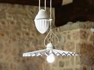 Direct-indirect light ceramic pendant lamp PIEGA | Ceramic pendant lamp - Aldo Bernardi