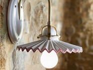 Ceramic wall lamp with fixed arm PIEGA | Wall lamp - Aldo Bernardi