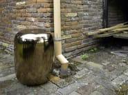 Ceramic stool / coffee table PILL COPPER - Pols Potten