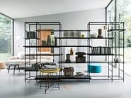 Sectional metal bookcase PLAIN - Lema