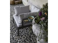 Fabric garden armchair with armrests PLANE FOR OUT | Armchair - iCarraro italian makers