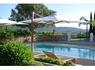 Offset Garden umbrella PLANTATION MAX SINGLE CANTILEVER - TUUCI