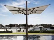 Offset square Garden umbrella PLANTATION MAX ZERO HORIZON CANTILEVER - TUUCI
