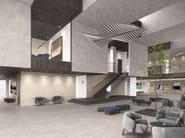 Indoor/outdoor full-body porcelain stoneware wall/floor tiles with stone effect PLAZA - Revigrés