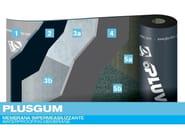 Prefabricated bituminous membrane PLUSGUM - PLUVITEC