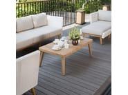 Tavolino da caffè rettangolare in teak per contract POB 23144 - SKYLINE design