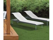 Recliner fabric garden daybed with Casters POISSY FOR SUN - iCarraro italian makers