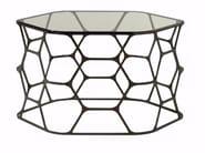 Tavolino in acciaio e vetro POLLEN - ROCHE BOBOIS