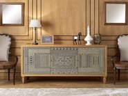 Solid wood sideboard with doors POMEIUM ORNAMENTA - Arvestyle