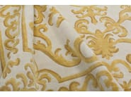 Patterned handmade rectangular rug POMPADOUR GOLD - EDITION BOUGAINVILLE