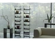 Wall-mounted powder coated steel shelving unit POOL 220 - MOX