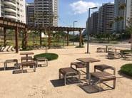 Seduta da esterni in alluminio e legno PORTIQOA | Seduta da esterni - mmcité 1