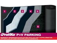 Prefabricated polymer membrane PRATIKO P+V PARKING - PLUVITEC