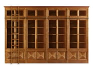 Modular cherry wood bookcase PRESIDENT - Morelato