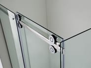Custom tempered glass shower cabin with sliding door PRESTIGE | Tempered glass shower cabin - International Swiss Concepts