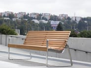 Bench with armrests with back PREVA URBANA - mmcité 1