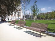 PREVA URBANA bench by with stainless steel sides. www.mmcite.com