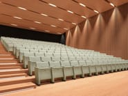 Fabric auditorium seats with writing tablet PRIMA | Auditorium seats - Emmegi