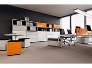 Modular office storage unit with lock PRIMO LATERALS - Dieffebi