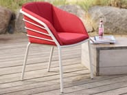 Stackable garden chair with armrests PROVENCE - solpuri