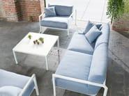Fabric garden armchair with armrests PURE ALU | Garden armchair - solpuri