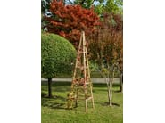 Self-supporting wooden vertical gardening trellis PYRAMIDE - Tectona