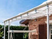 Wall-mounted wrought iron pergola Pergola 6 - Garden House Lazzerini